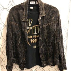 Vintage black burnout design jacket Chicos sz 1